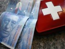 bankrörelsepengarschweizare Royaltyfria Foton