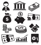 bankrörelsesymboler Royaltyfri Foto