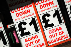 Bankrott Lizenzfreies Stockfoto