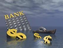 Bankructwo - 3D odpłacają się Zdjęcie Royalty Free
