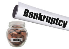 Bankructwo i żadny savings Zdjęcia Royalty Free