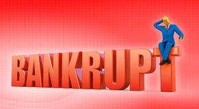 Bankrupt illustration stock