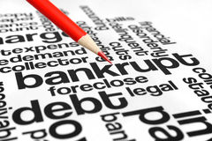 Bankrupt. Close up of Bankrupt concept royalty free stock image
