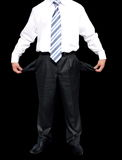 Bankrupt. Businessman with empty pockets (with clipping paths royalty free stock photography
