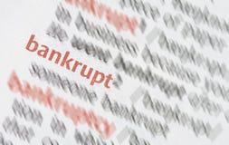 bankrupt stock foto