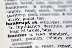bankrupt royalty-vrije stock fotografie