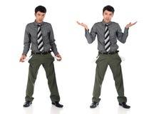 Bankrupt Asian businessman Stock Photos