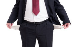 Bankrupt, broke or poor businessman, accountant and financial ma Stock Image