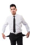 Bankrupt business man Stock Photos