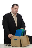 Bankrupt businessman. Bankrupt middle aged businessman stands in the office Royalty Free Stock Image