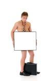 Bankrupt businessman, stripped Stock Photos