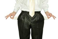 Bankrupt del hombre de negocios Foto de archivo