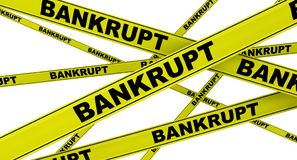 bankrupt Dispositifs avertisseurs jaunes illustration stock