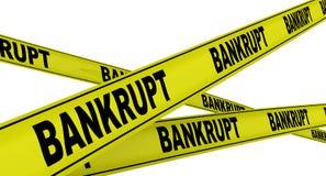 bankrupt Dispositifs avertisseurs jaunes illustration libre de droits
