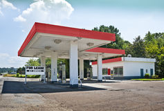 Bankrupt Gasoline Station Convenience Store Stock Image