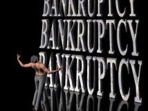 Bankrupt, negócio de failing. ilustração royalty free