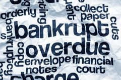 Bankrupt and overdue concept Stock Images