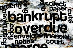 Bankrupt overdue concept Stock Photography