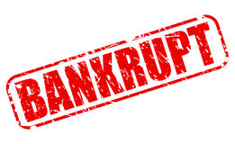 BANKRUPT red stamp text Stock Photo