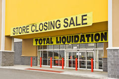 Bankrupt Retail Store Revised Stock Photo