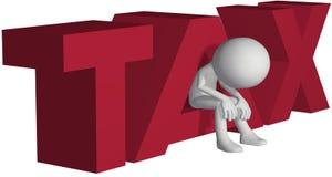Bankrupt ruiné par contribuable par des impôts élevés illustration de vecteur