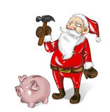 Bankrupt santa claus Stock Photography