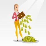Bankrupt secouant l'argent de sa serviette illustration stock