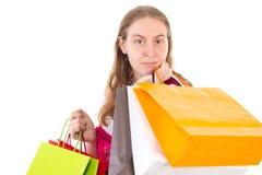 Bankrupt after shopping Stock Photos