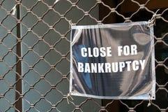 Bankrupt store Royalty Free Stock Image