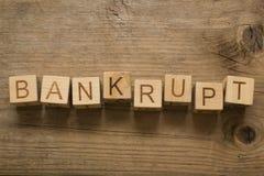 Bankrupt text Royalty Free Stock Image