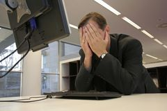 Bankruptcy. Man having finance trouble (bankrupted or unemployed stock images