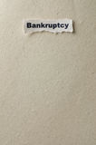Bankruptcy. Picture of a word bankruptcy Stock Photos
