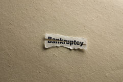 Bankruptcy. Picture of a word bankruptcy Royalty Free Stock Photography