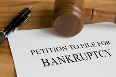 Bankruptcy Royalty Free Stock Photos