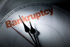 Bankruptcy. Clock face, concept of bankruptcy, financial problem Royalty Free Stock Photos