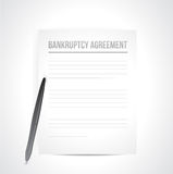 Bankruptcy agreement documents. illustration Royalty Free Stock Photos