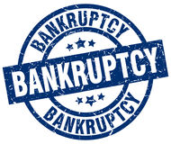 Bankruptcy blue round stamp. Bankruptcy blue round grunge stamp Royalty Free Stock Photography