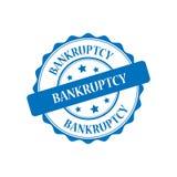Bankruptcy stamp illustration. Bankruptcy blue stamp seal illustration design Royalty Free Stock Photo