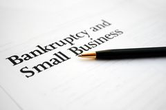 Bankruptcy and business Stock Photos