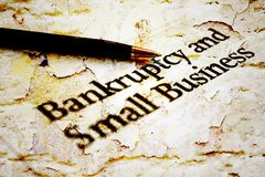 Bankruptcy business Stock Photos