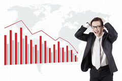 Bankruptcy of businessman Royalty Free Stock Photo