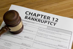 Bankruptcy Chapter 12. Documents for filing bankruptcy Chapter 12 stock photography