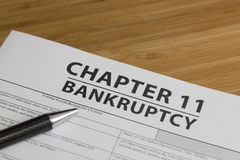 Bankruptcy Chapter 11 Royalty Free Stock Image