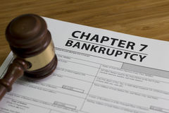Bankruptcy Chapter 7. Documents for filing bankruptcy Chapter 7 royalty free stock images