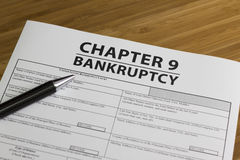 Bankruptcy Chapter 9 Stock Photos