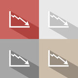 Bankruptcy chart icon Royalty Free Stock Photos
