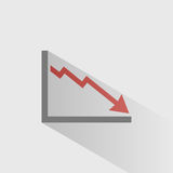 Bankruptcy chart icon Stock Image