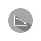 Bankruptcy chart icon Stock Photography