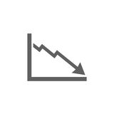 Bankruptcy chart icon. On white background Stock Images