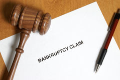 Bankruptcy Claim. It's never in anyones agenda to claim bankruptcy however sometimes its the only way out Royalty Free Stock Photo
